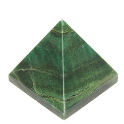 Divya Mantra Metaphysical Crystal Chakra Pyramid in Dark Green Jade - Divya Mantra