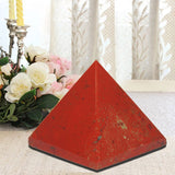 Divya Mantra Metaphysical Crystal Chakra Pyramid in Red Jasper 2.5 Inches - Divya Mantra