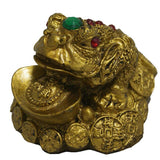Divya Mantra Frog with Ingot Showpiece