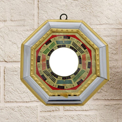 Feng Shui Bagua Mirror Concave for positive energy-9X9 Cm - Divya Mantra