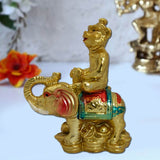 Divya Mantra Feng Shui Monkey on Elephant for success & Career - Divya Mantra