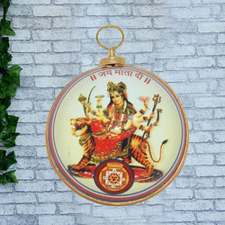 Divya Mantra Jai Mata Di Hanging in Heavy Brass