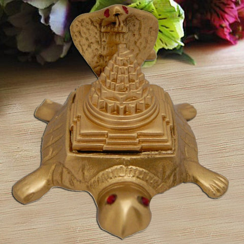 Shree Yantra with Tortoise and Naag Devta - Divya Mantra