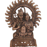 Divya Mantra Shiv Parvati Wall D'cor antique Finish