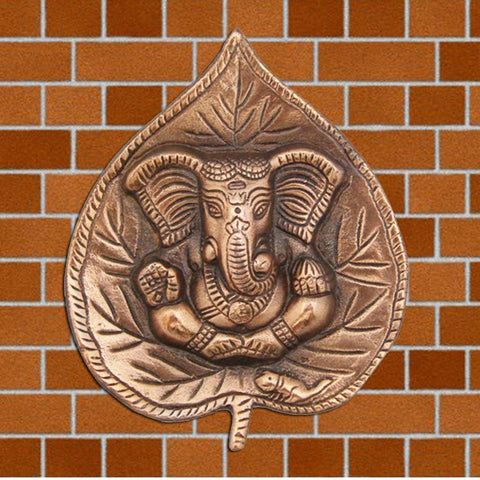 Divya Mantra Patta Ganesh Wall Decorative antique Finish - Divya Mantra