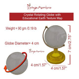 Divya Mantra Feng Shui Globe For Success and Crystal Glass Pyramid with Golden Stand For Spiritual Healing, Vastu Correction and Balancing 4 cm - Combo Pack