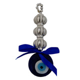 Divya Mantra Decorative Evil Eye Three Rings Pendant Amulet for Car Rear View Mirror Decor Ornament Accessories/Good Luck Charm Protection Interior Wall Hanging Showpiece - Divya Mantra