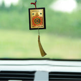 Divya Mantra Sri Shri Maha Mrityinjay Yantra Talisman Gift Pendant Amulet for Car Rear View Mirror Decor Ornament Accessories/Good Luck Charm Protection Interior Wall Hanging Showpiece