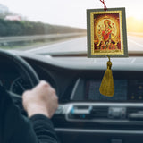 Divya Mantra Sri Ma Durga Talisman Gift Pendant Amulet for Car Rear View Mirror Decor Ornament Accessories/Good Luck Charm Protection Interior Wall Hanging Showpiece