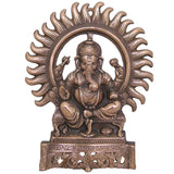 Divya Mantra Ganesha Wall Decorative antique Finish - Divya Mantra