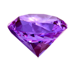 Divya Mantra Crystal Diamond in Purple For Healing - Divya Mantra
