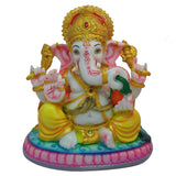 Divya Mantra Hindu God Ganesha Idol Sculpture Statue Murti In Marble Finish - Divya Mantra