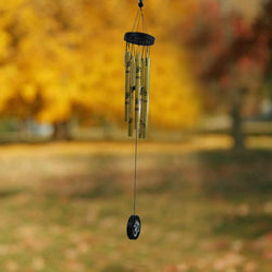 Divya Mantra Feng Shui Om Metallic Wind Chime for Positive Energy - Divya Mantra