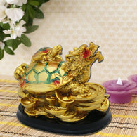 Divya Mantra Feng Shui Dragon Headed Tortoise With Baby for Overall Success - Divya Mantra