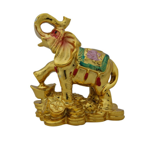 Divya Mantra Feng Shui Trunk Up Elephant- for wish Fulfilment - Divya Mantra