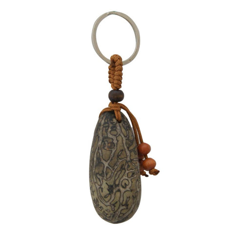 Divya Mantra Feng Shui Bodhi Tree Seed Keychain for Spiritual Attainment - Divya Mantra