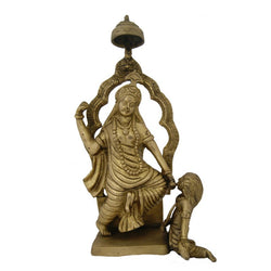 Divya Mantra Hindu Goddess Durga Idol Sculpture Statue Murti 13.5 Inches - Divya Mantra