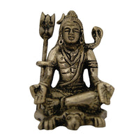 Divya Mantra Hindu God Meditating Shiva With Yoga Mudra Idol Sculpture Statue Murti For Pooja, Meditation, Concentration
