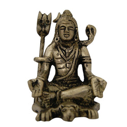 Divya Mantra Hindu God Meditating Shiva With Yoga Mudra Idol Sculpture Statue Murti For Pooja, Meditation, Concentration - Divya Mantra