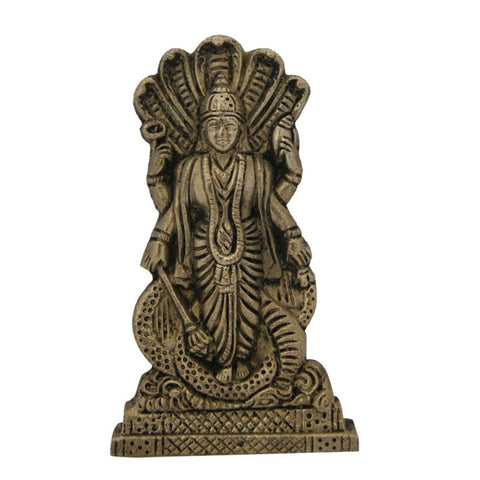 Divya Mantra Hindu God Lord Vishnu Idol Sculpture Statue Murti 4 Inches - Divya Mantra