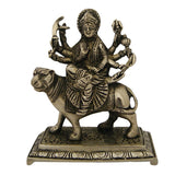 Divya Mantra Hindu Goddess Durga Idol Sculpture Statue Murti 5.5 Inches - Divya Mantra