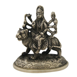 Divya Mantra Hindu Goddess Durga Idol Sculpture Statue Murti 4 Inches - Divya Mantra