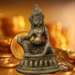 Divya Mantra Hindu God Kuber Idol Sculpture Statue Murti 3.5 Inches - Divya Mantra