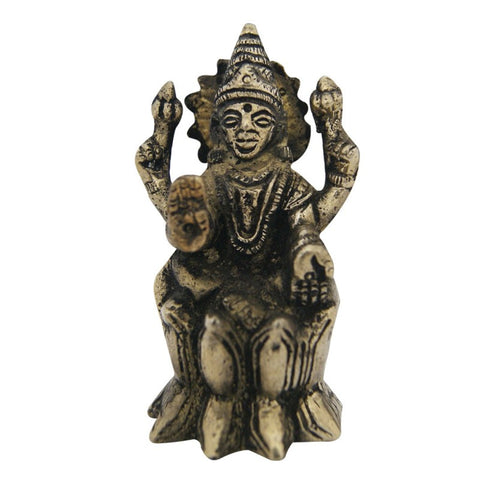 Divya Mantra Hindu Goddess Laxmi Idol Sculpture Statue Murti 3.5 Inches - Divya Mantra