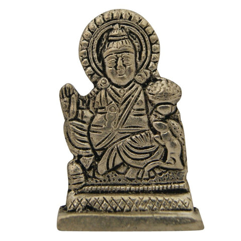 Divya Mantra Hindu God Lord Kuber Idol Sculpture Statue Murti 2.5 Inches - Divya Mantra