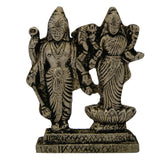 Divya Mantra Lord Vishnu and Goddess Laxmi Idol Sculpture Statue Murti 2.5 Inches - Divya Mantra