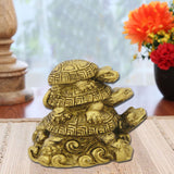 Divya Mantra Feng Shui Three Tiered Tortoises for Health Wealth & Luck - Divya Mantra