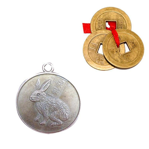 Divya Mantra Chinese Zodiac Sign Rabbit Pendant - Divya Mantra
