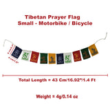 Divya Mantra Tibetan Prayer Flags, Wind Outdoor Flags, Car Jewelry Decor Accessories Flag Decorations, Buddhist Items Om Mani Padme Hum Peace Sign Wall Flag, Hanging For Cycle/ Bike 1.4 Ft -Multicolor - Divya Mantra