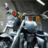 Divya Mantra Combo Of Tibetan Mantra Flag For Motorbike and Feng Shui Om Rudraksha Wind Chime - Divya Mantra