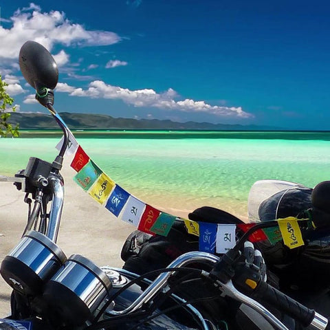 Divya Mantra Tibetian Buddhist Prayer Flags For Motorbike - Divya Mantra