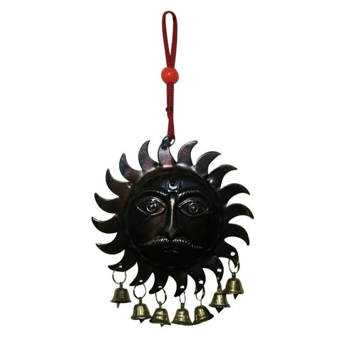 Divya Mantra Sri Vastu Surya Talisman Gift Pendant Amulet for Car Rear View Mirror Decor Ornament Accessories/Good Luck Charm Protection Interior Wall Hanging with Bells Showpiece - Divya Mantra