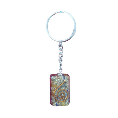 Divya Mantra Orgone Energy Rectangle 7 Chakra Keychain - Divya Mantra