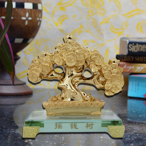 Divya Mantra Feng Shui Lucky Chinese Coins Tree For Money, Wealth Luck - Divya Mantra