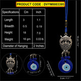 Divya Mantra Car Decoration Rear View Mirror Hanging Accessories Feng Shui Evil Eye with Owl - Divya Mantra