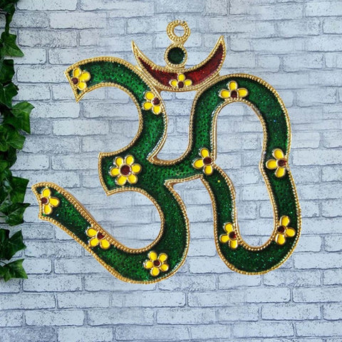 Divya Mantra Om Wall Hanging for Good luck and Fortune - Divya Mantra