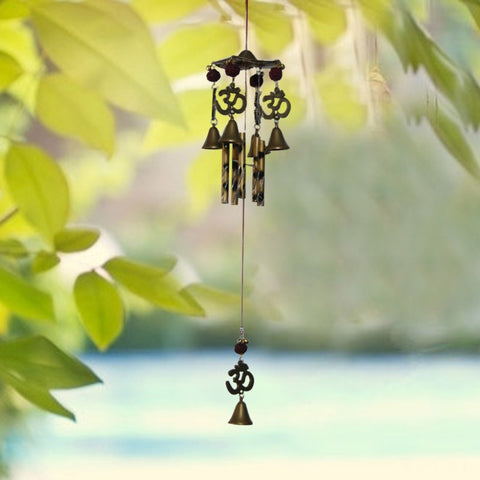 Divya Mantra Feng Shui Om Vastu 5 Rudraksha Windchime For Positive Energy and Good Luck - Divya Mantra