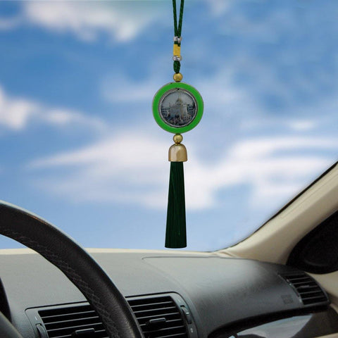 Divya Mantra Car Decoration Rear View Mirror Hanging Accessories Guru Gobind Singh Ji - Divya Mantra