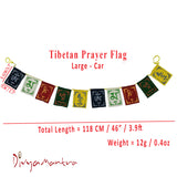 Divya Mantra Tibetan Buddhist Prayer Flags Set for Car