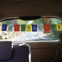 Divya Mantra Tibetian Buddhist Prayer Flags For Car - Divya Mantra