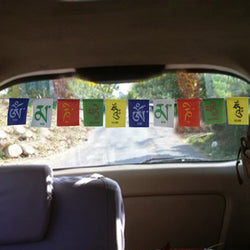 Divya Mantra Premium Quality Tibetan Buddhist Prayer Flags For Car / Motorbike - 3 Feet Multicolor - Divya Mantra