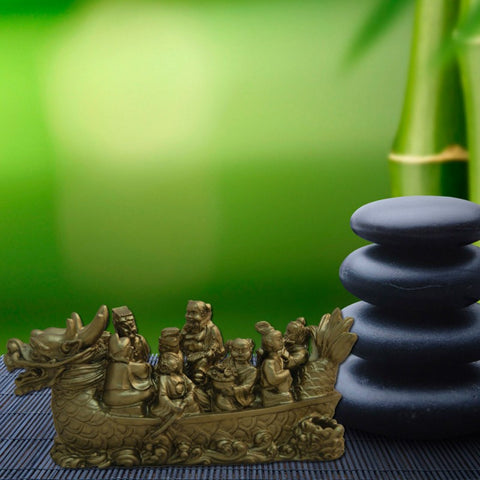 Divya Mantra Feng Shui Dragon Wealth Ship - Divya Mantra
