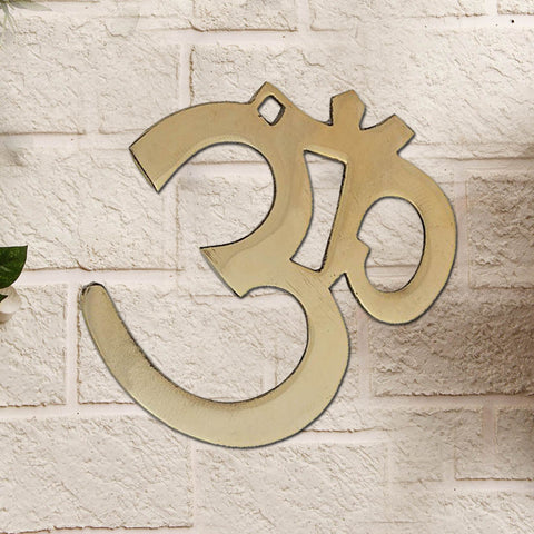 Divya Mantra Om Brass Wall Hanging for Good Luck and Fortune - Divya Mantra