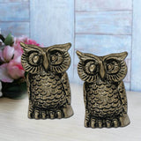 Divya Mantra Set of Two Owl Statue - Divya Mantra