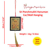 Divya Mantra Set of Two Panchmukhi Hanuman Car / Wall Hanging - Divya Mantra