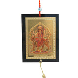 Divya Mantra Sri Durga Maa Talisman Gift Pendant Amulet for Car Rear View Mirror Decor Ornament Accessories/Good Luck Charm Protection Interior Wall Hanging Showpiece - Divya Mantra